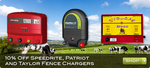 10% Off Speedrite, Patriot and Taylor Fence Chargers